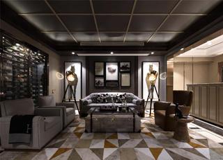 现代别墅装修客厅效果图