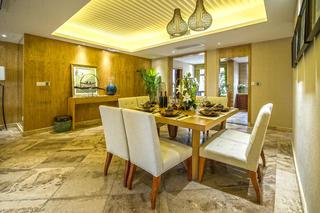 130平东南亚风情装修餐厅布置图