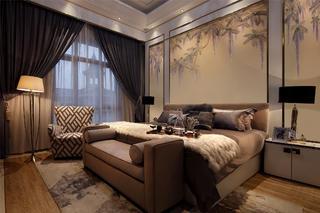 现代风格别墅装修卧室搭配图