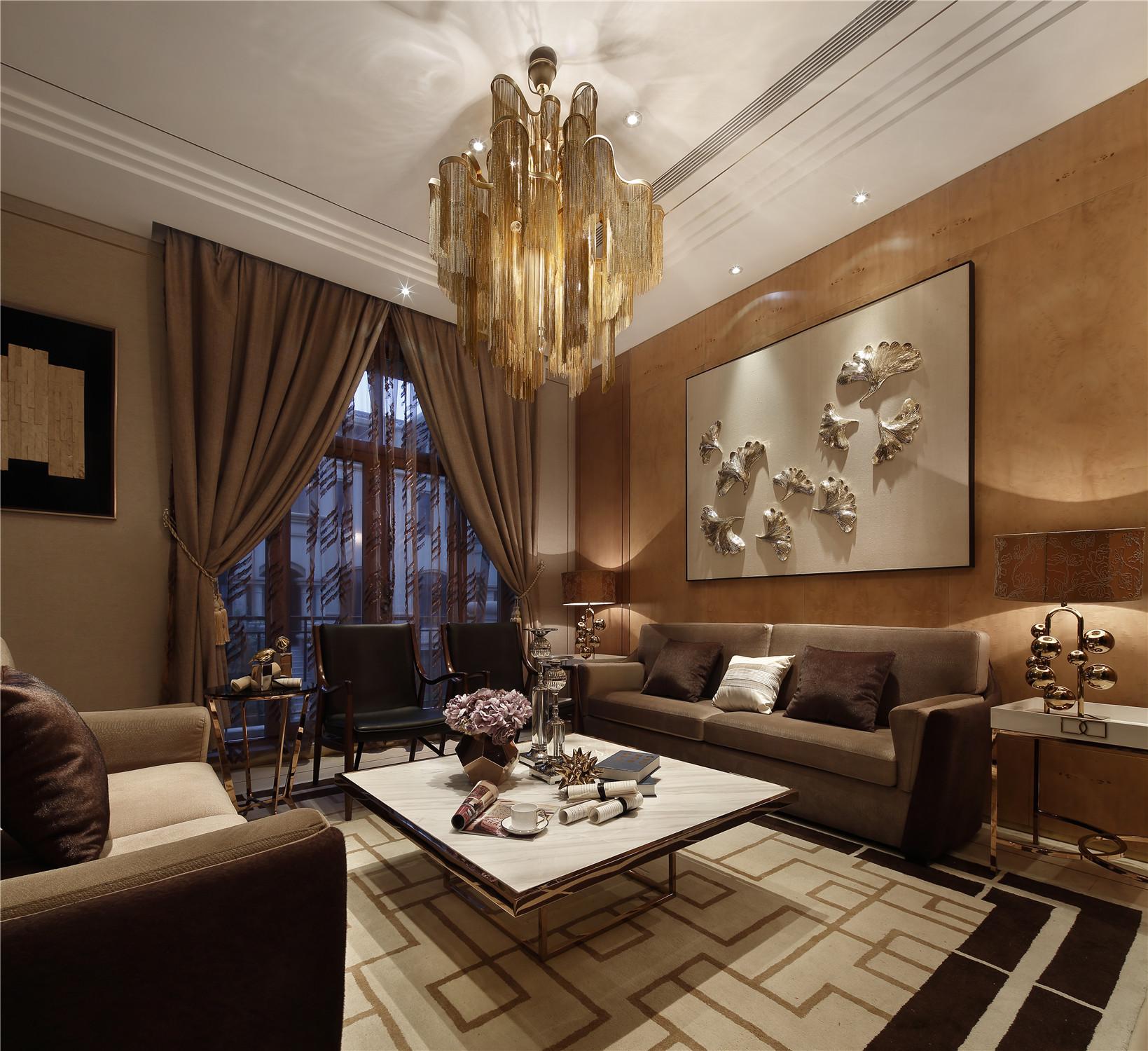 现代风格别墅装修客厅效果图