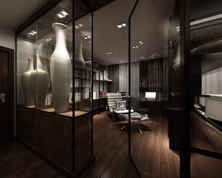130平中式装修玻璃展示柜图片