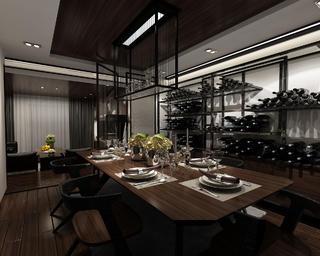 130平中式装修餐厅效果图