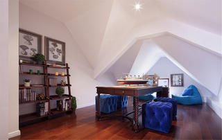 现代欧式风格别墅装修阁楼设计图