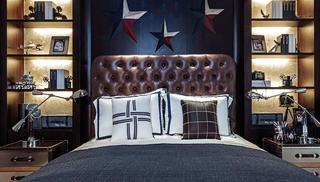 法式别墅装修床头背景墙图片