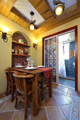80㎡二居室之家餐厅背景墙图片