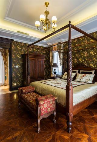 经典欧式别墅装修卧室设计图