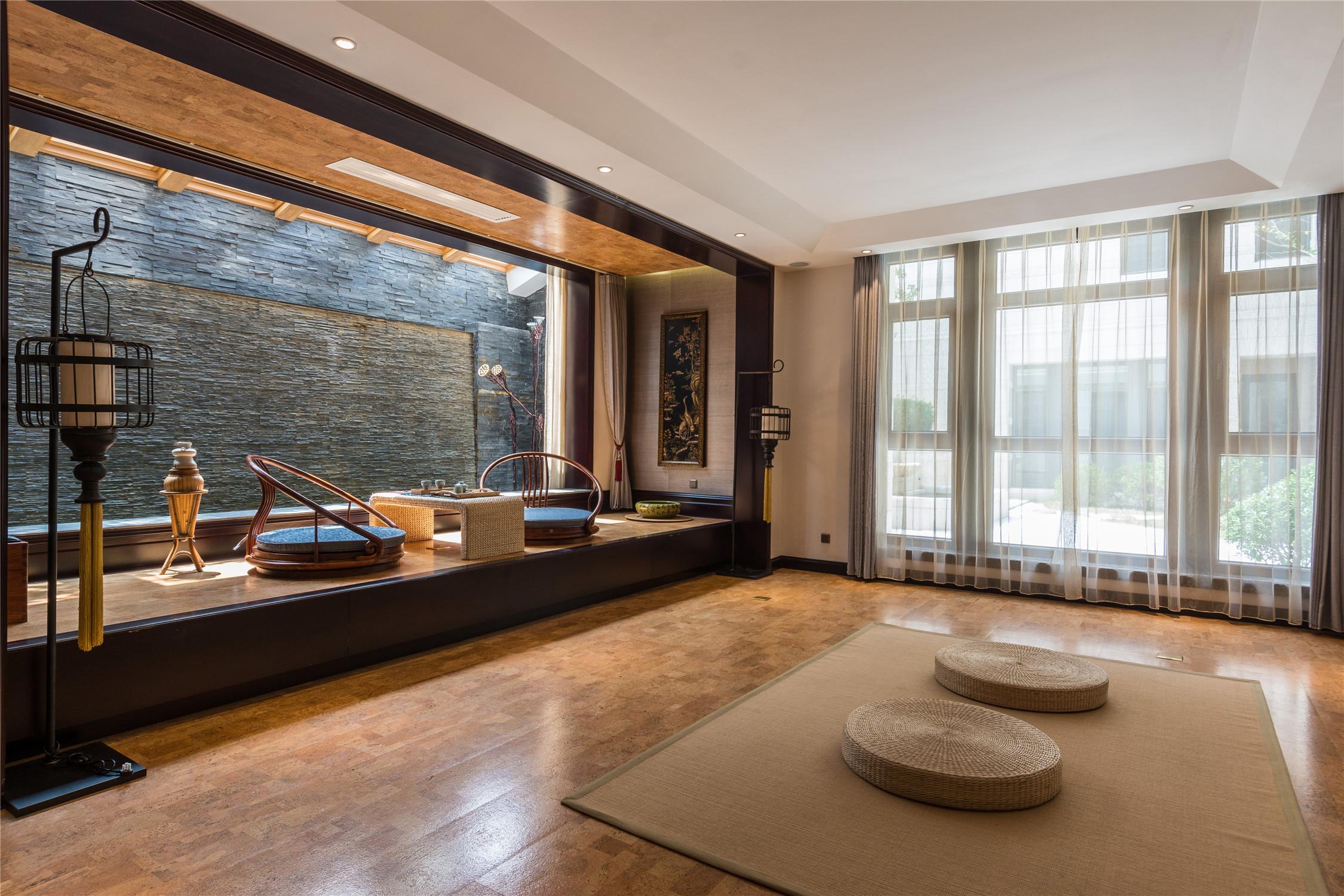 经典欧式别墅装修茶室设计图