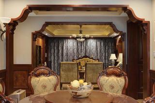 美式别墅装修餐桌椅图片