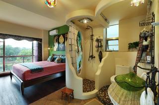 小户型东南亚风格装修卫生间设计