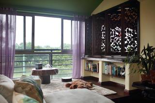 小户型东南亚风格装修露台布置图