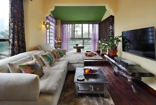 小户型东南亚风格装修客厅设计图