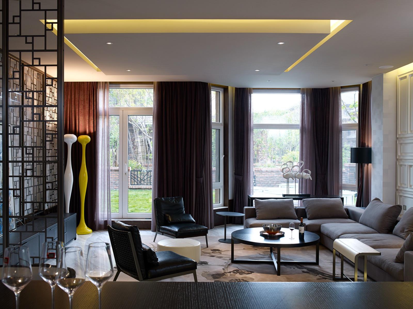 现代风格别墅装修客厅设计图