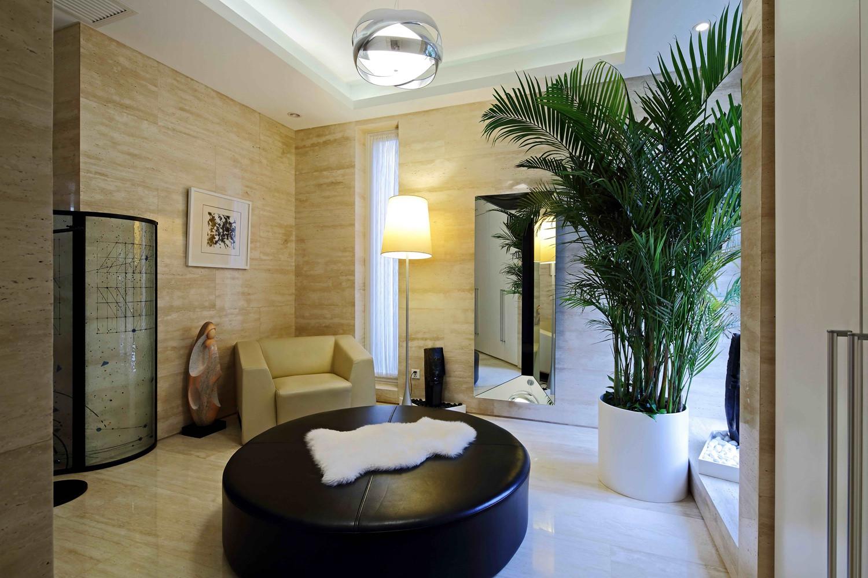 现代风格别墅装修起居室装潢图