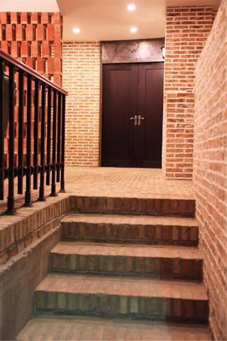 农园会所装修楼梯走道