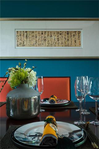 中式别墅装修餐厅背景墙图片