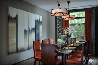 中式别墅装修餐厅布置图