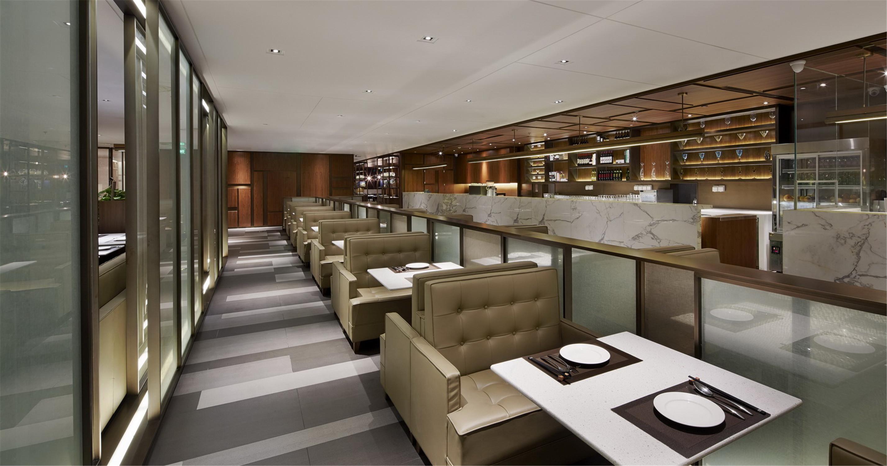 港式餐厅装修双人桌位区