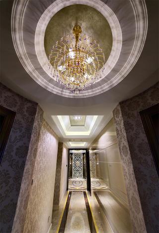 大户型新古典装修门厅吊顶