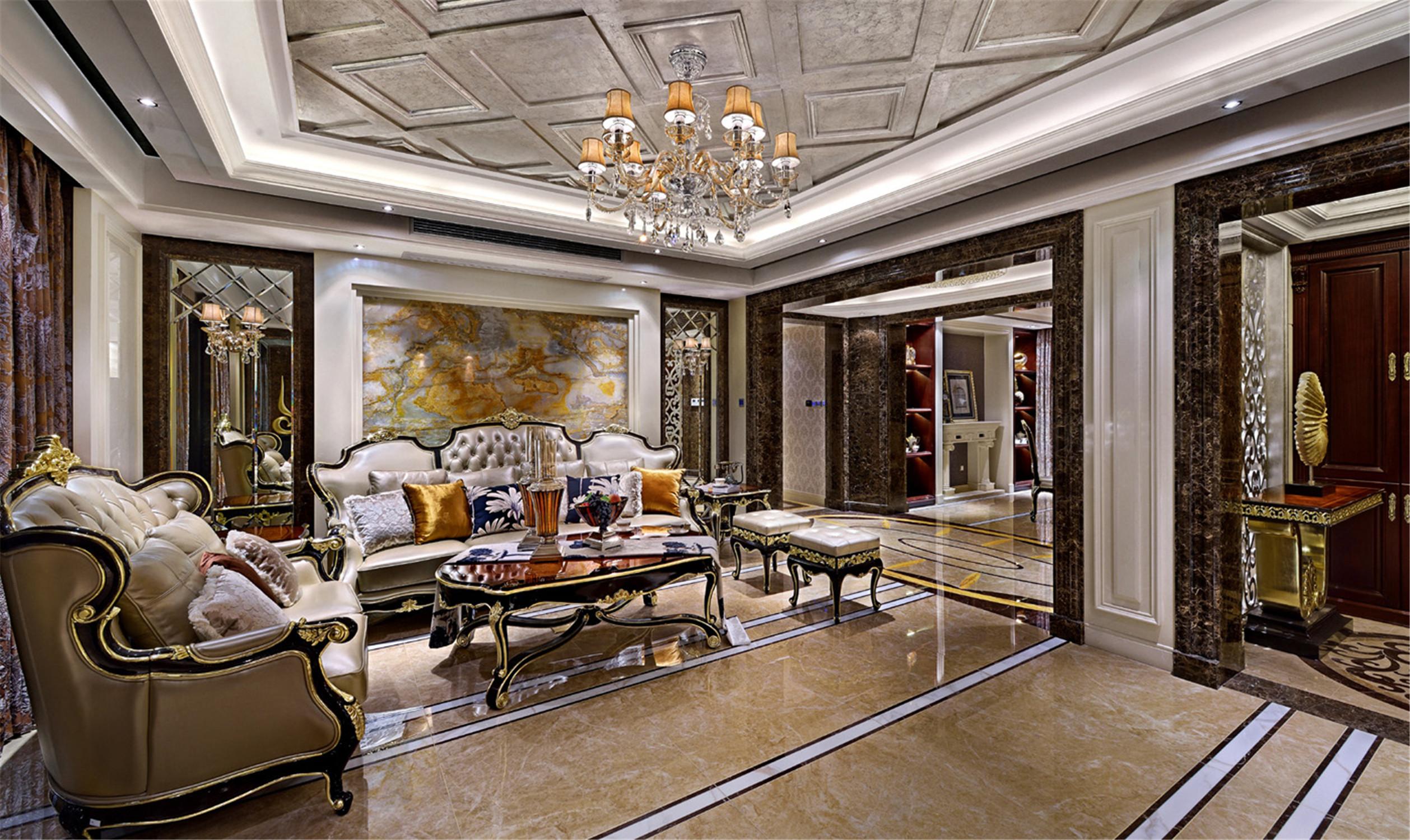 大户型新古典装修客厅效果图