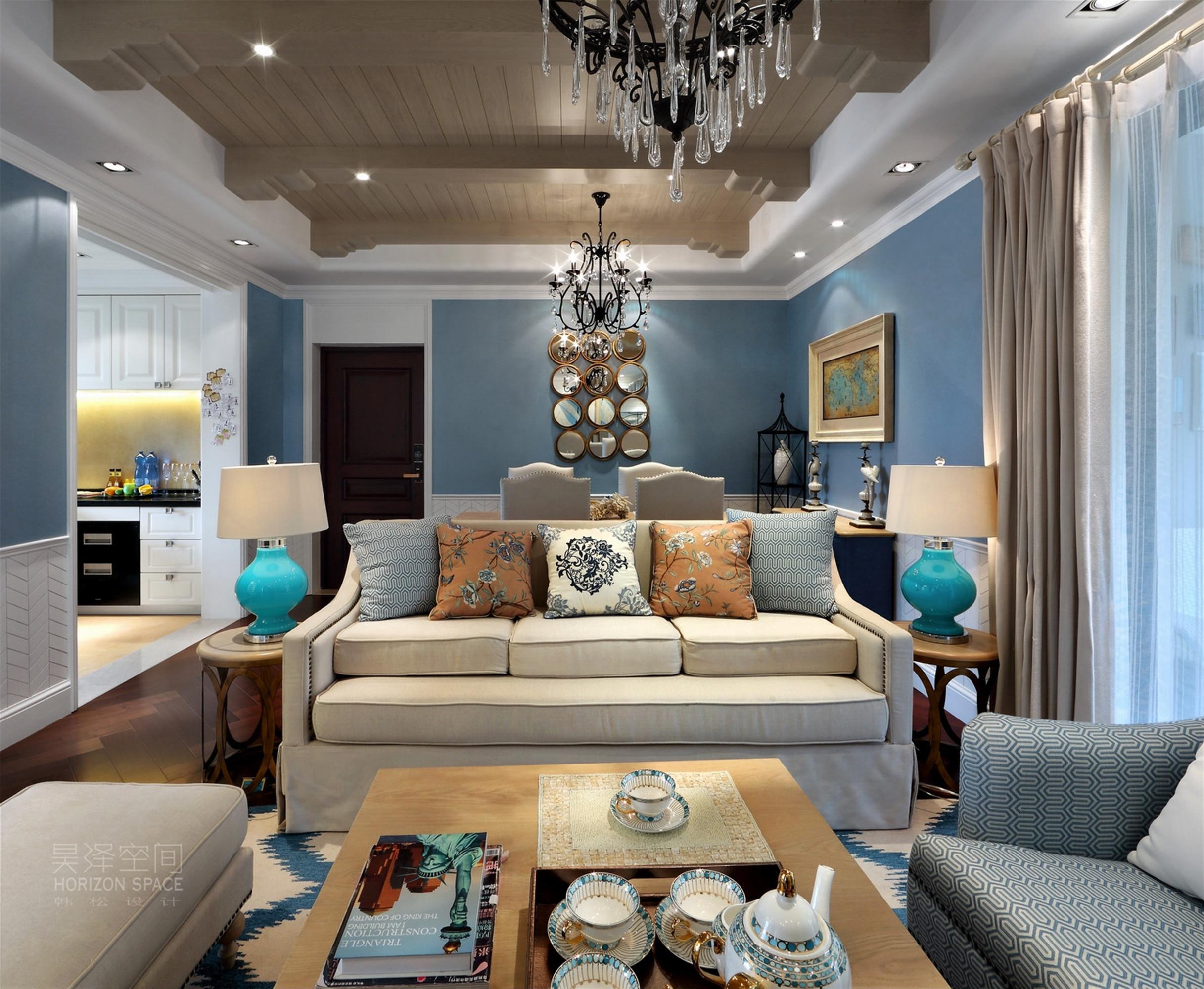 100平地中海风格装修沙发图片