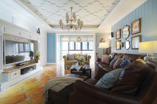 美式风格四居装修沙发图片