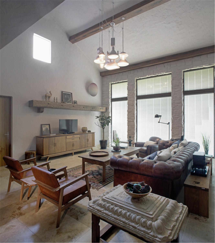 中式风格别墅装修客厅设计图