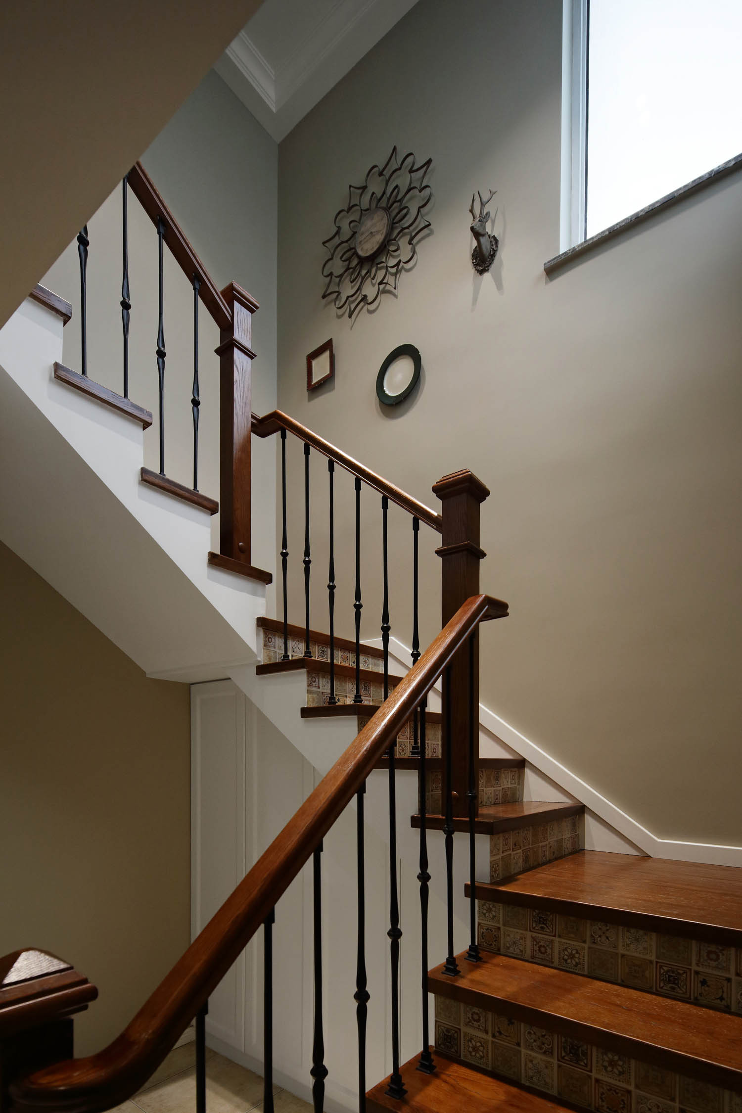 美式别墅装修楼梯图片