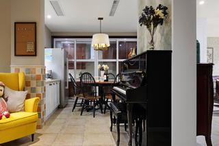 美式别墅装修钢琴区
