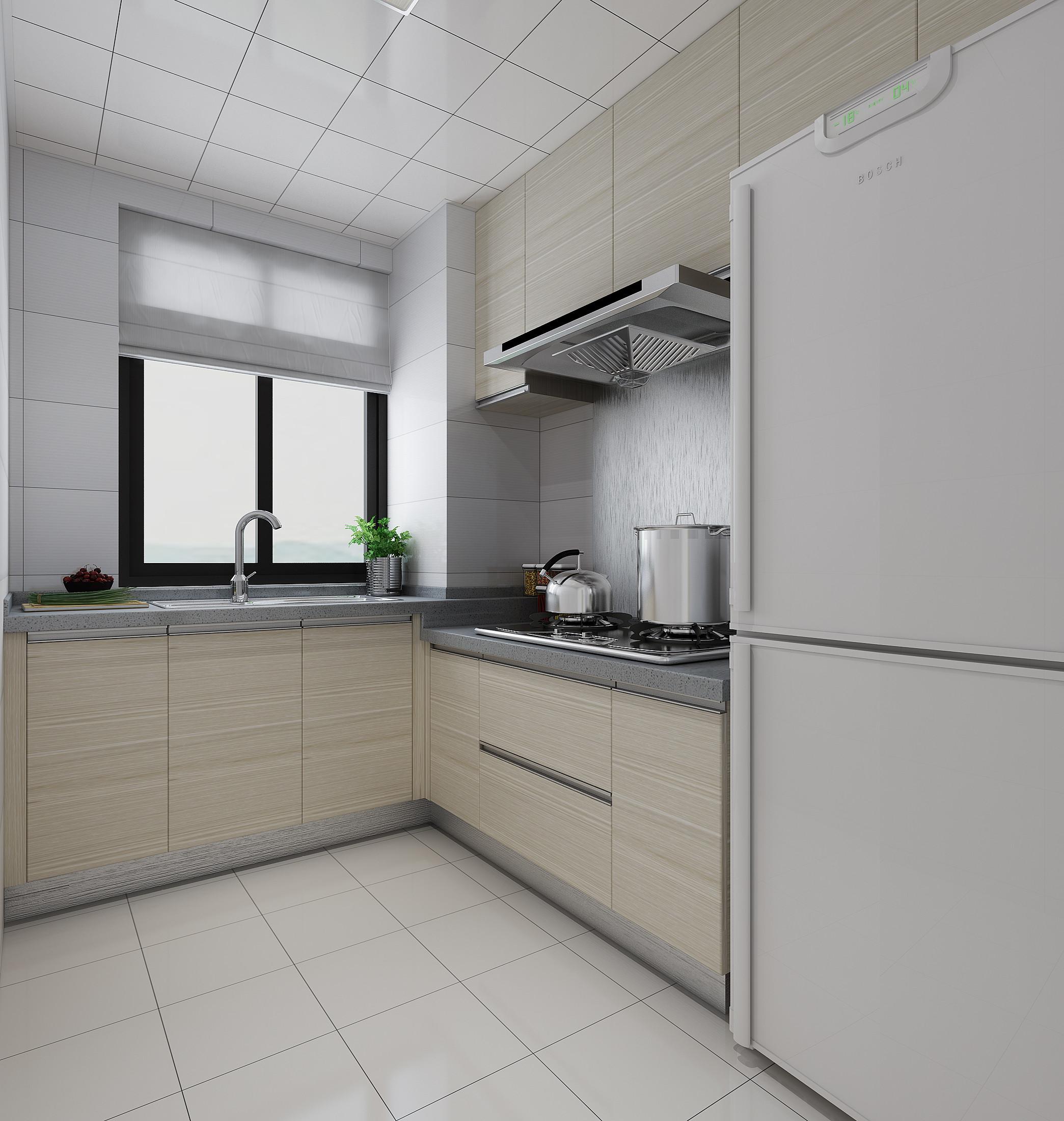 130平简约装修厨房效果图
