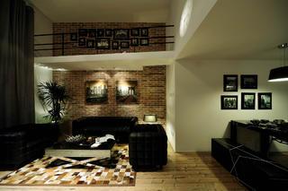 现代简约loft风格装修客厅效果图