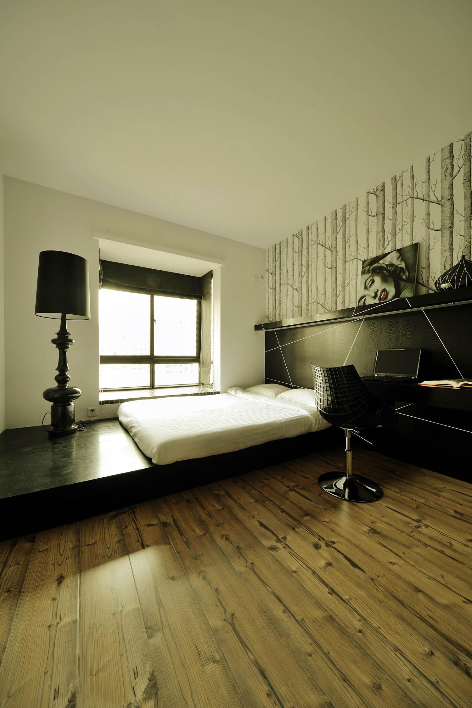 现代简约loft风格装修书房榻榻米设计