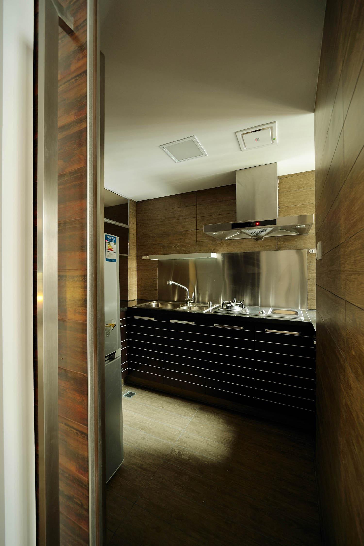 现代简约loft风格装修橱柜图片