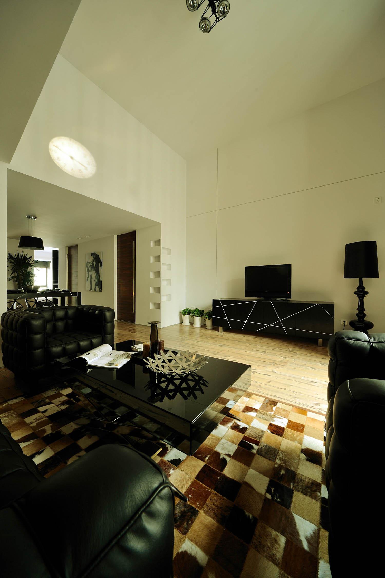 现代简约loft风格装修电视背景墙图片