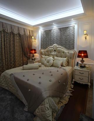新古典三居装修主卧设计图