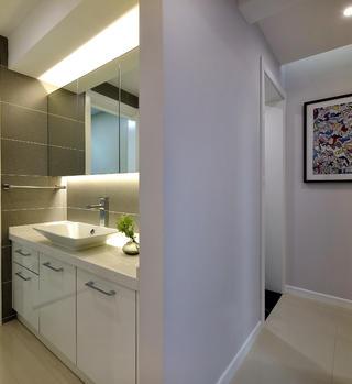 138平现代简约装修洗手台图片