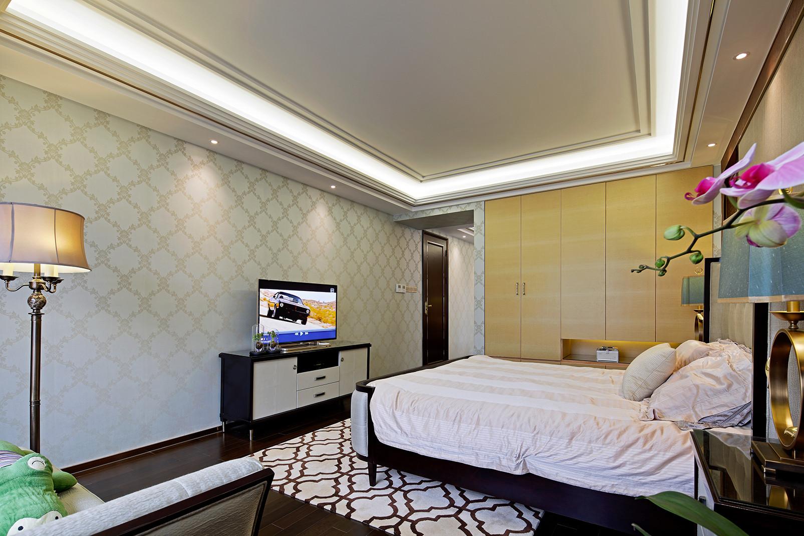 美式别墅装修电视柜图片