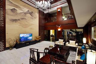 中式别墅装修设计茶几图片