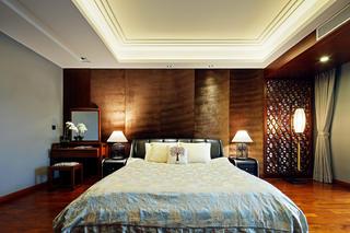 中式别墅装修设计床头背景墙图片