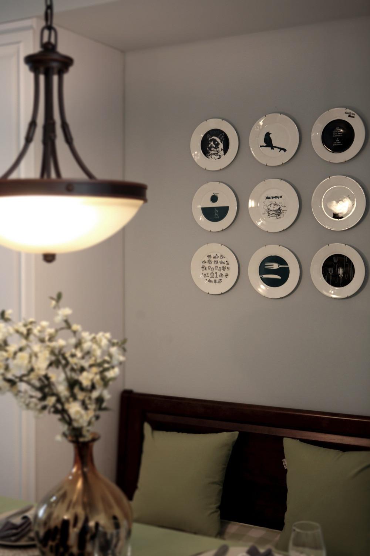 90㎡简美装修餐厅背景墙图片