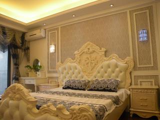 150平欧式风格装修床头背景墙图片