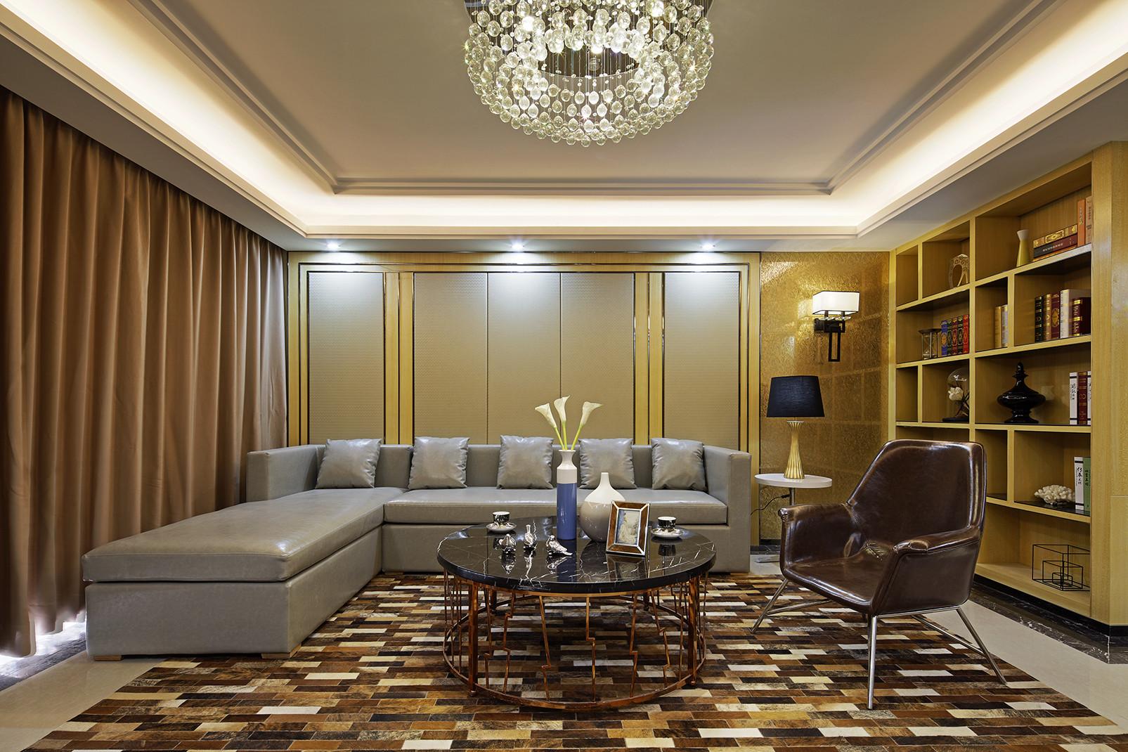 现代时尚三居沙发背景墙图片