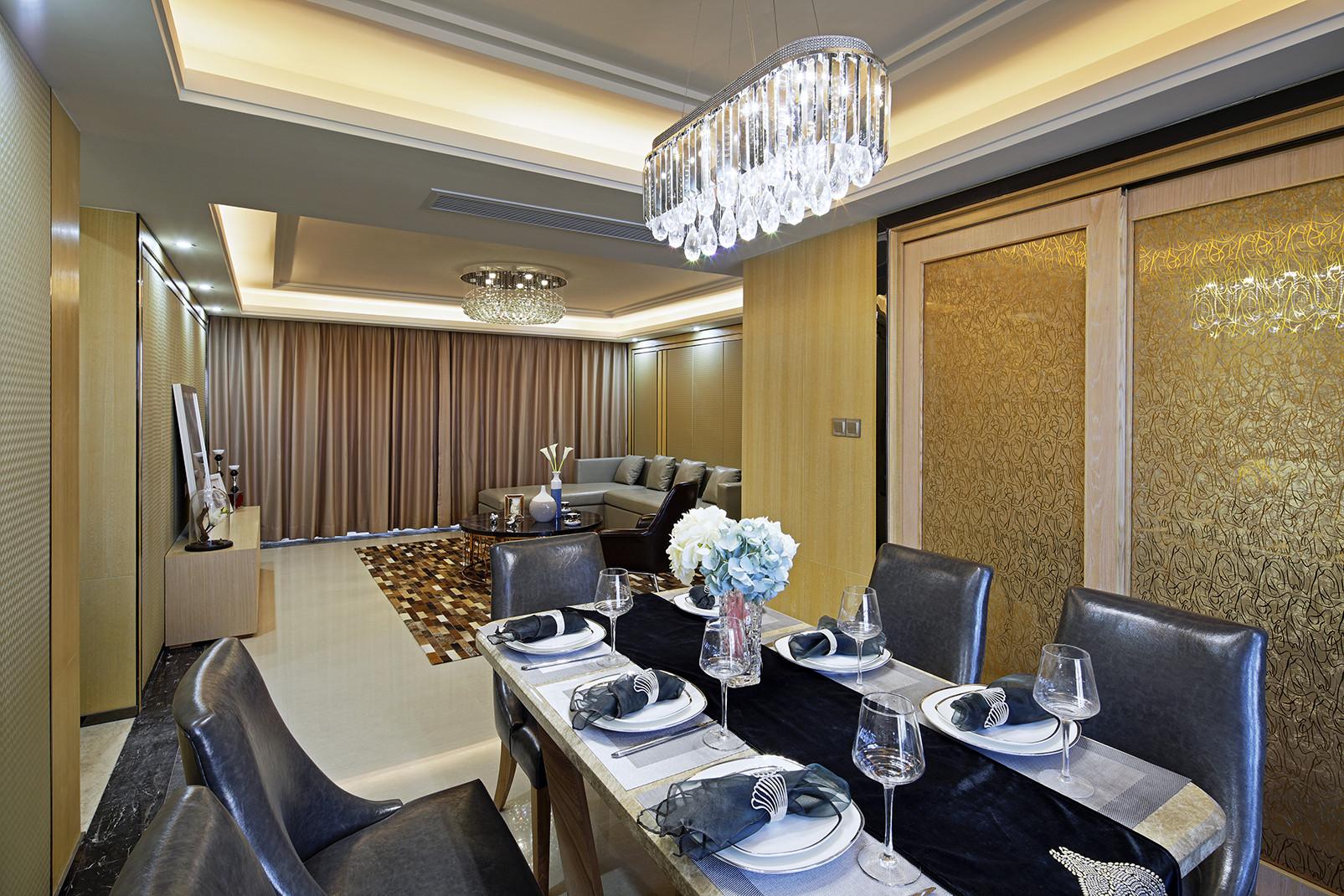 现代时尚三居餐厅背景墙图片