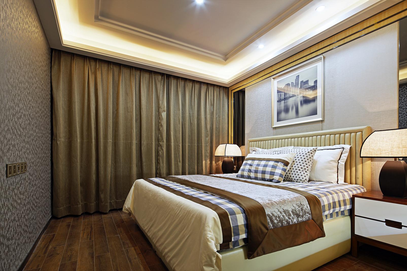 现代时尚三居卧室设计图