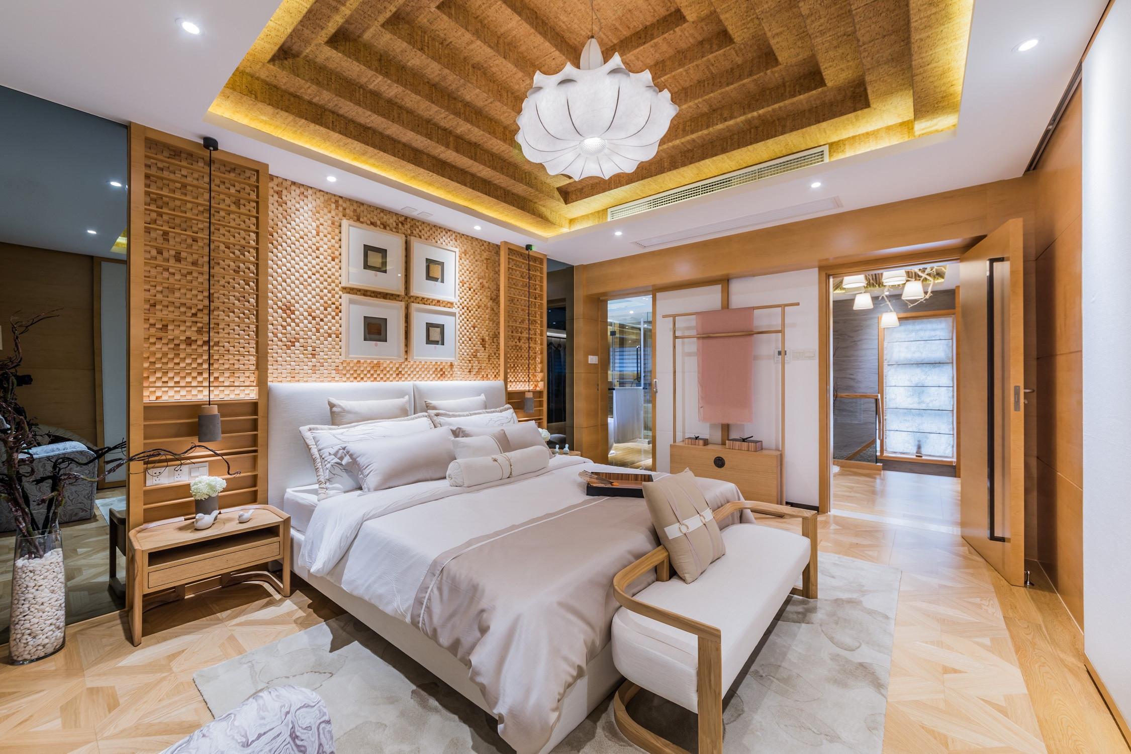 日式别墅装修卧室效果图