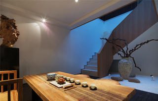 简约中式别墅装修茶室设计图