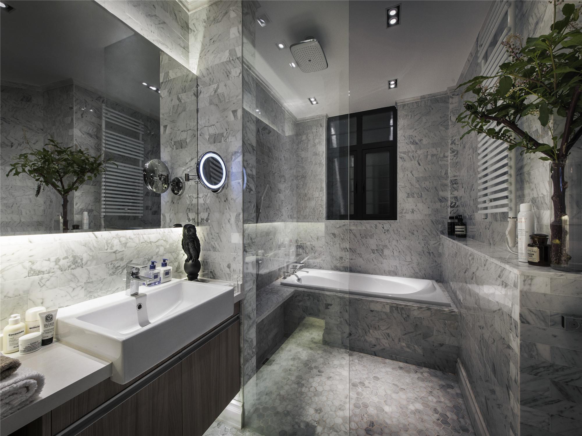 混搭公寓装修卫生间效果图