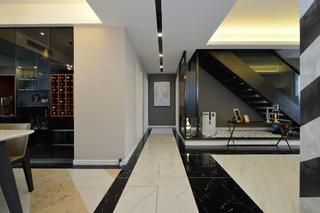 现代简约复式装修玄关走廊