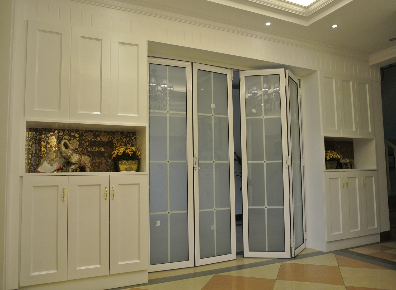 简欧别墅装修折叠门设计