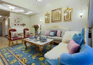 法式复式装修沙发图片