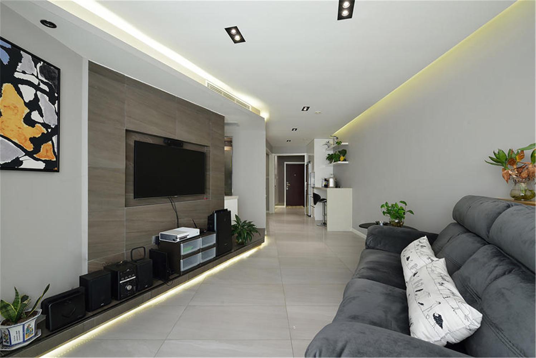 60平一居室装修客厅设计图